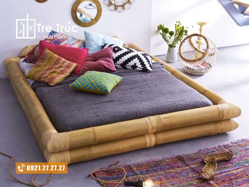 giường tre đơn giản cho trẻ em